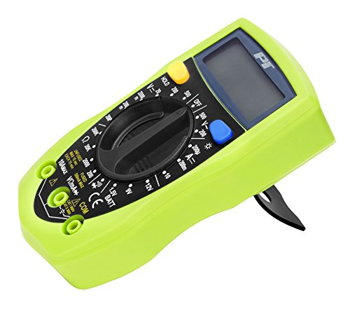 Performance Tool W2969 Compact Digital Multimeters , Electronic Amp Volt Ohm Voltage Meter Multimeter with Diode and Continuity Test Tester, Backlight LCD Display (Green)