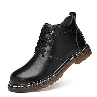 RTRY Zapatos de mujer auténtico cuero cuero cuero Nappa moda otoño invierno botas botas botas de combate Bootie talón plano Ronda Toe botines/tobillo. US6.5-7 / EU37 / UK4.5-5 / CN37