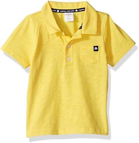 Gymboree Baby Toddler Boys' Yellow Slub Polo Top
