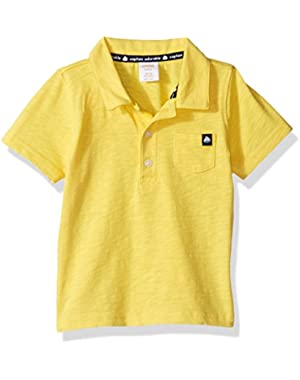Baby Toddler Boys' Yellow Slub Polo Top