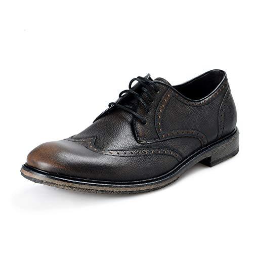 John Varvatos Star USA Men's Leather Sid Crepe Wingtip Oxfords Shoes US 10 IT 43 Brown