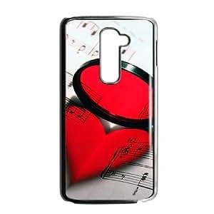 LG G2 Black phone case Love Music OLP5783123