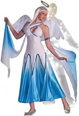 Forum Novelties Haunted Ballroom Blue & White Angel Dress Costume ...