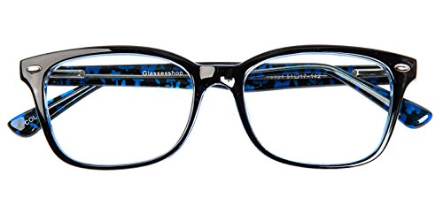 Glassesshop Vintage Blue Hyannis Rectangle Eyeglasses Frame