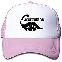 VEGETARIAN DINOSAUR VEGAN Adjustable Child Small Hats Trucker Hats Fits 6~13 Years\r\nOld Kids