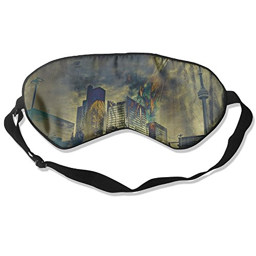Best Halloween Masks Canada (WUGOU Sleep Eye Mask Canada CN Tower Lightweight Soft Blindfold Adjustable Head Strap Eyeshade Travel)
