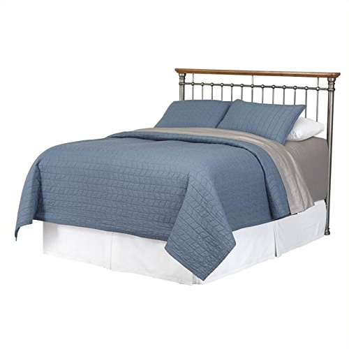 Full Spindle (Hawthorne Collections Full Queen Spindle Headboard in Gray)
