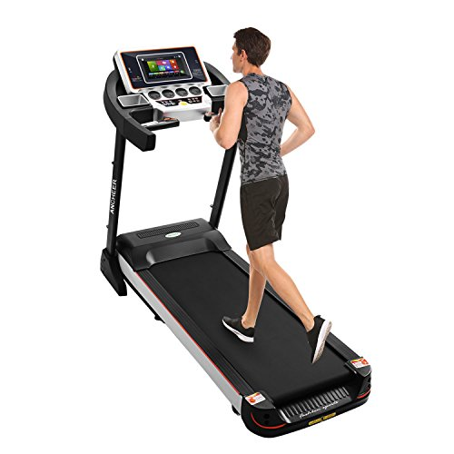 10.1 Inch WIFI Large Color Touch Screen 3.0 HP Folding Treadmill T5110 Health Fitness Training Equipment (black)