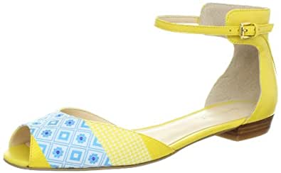 Nine West Women's Joeley Sandal,Yellow/Yellow South Beach,5 M US