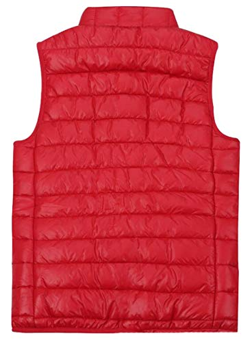 Slim Vest Red Outdoor Winther Packable TTYLLMAO Women's Puffer Fit Lightweight Down BzwYnSq