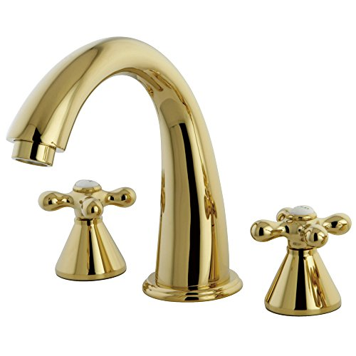 Kingston Brass KS2362AX Naples Roman Tub Filler, 7-1/8-Inch, Polished Brass - Roman Tub Filler Polished Brass