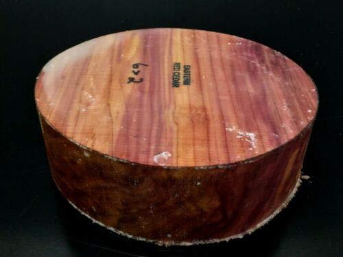 1 Pc of 6x2 Eastern Red Cedar Wood Turning Lathe Bowl Blank Block (BULK)