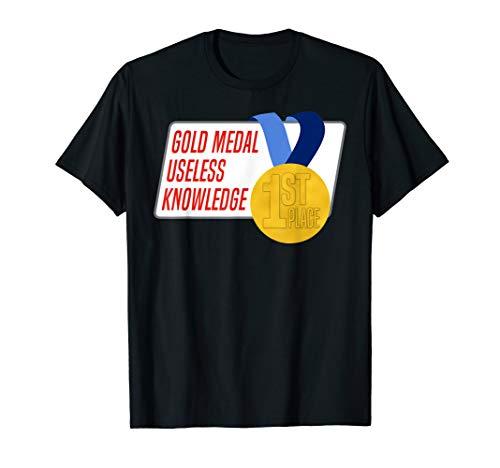 Useless Knowledge Gold Medal Family Award Shirt