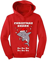Tstars - Christmas Shark Doo doo Ugly Sweater Toddler Hoodie
