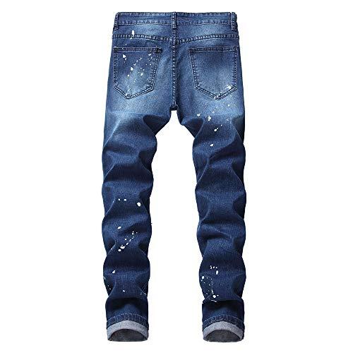 Uomo Meibax Pantaloni Fit Autunno Da Lavoro Fitness Jeans Slim Militari Strappati Taglie Uomo Lungo Blu pantaloni Tattici Inverno Forti Joggers Casual Cargo wErgqpwW