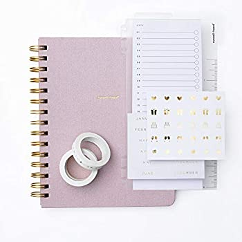 Amazon.com : kikki.K A5 Leather Notebook Spiral: Pink ...