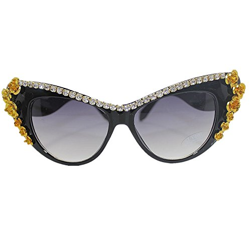 vacaciones de flor playa de de sol oro para de sol las de mujeres a de hechas Gafas de la Gafas las gato gafa de mano Ultra ligero las conduce los que ULTRAVIOLETA de cristal Protección ojos de verano 7wRn7ZC