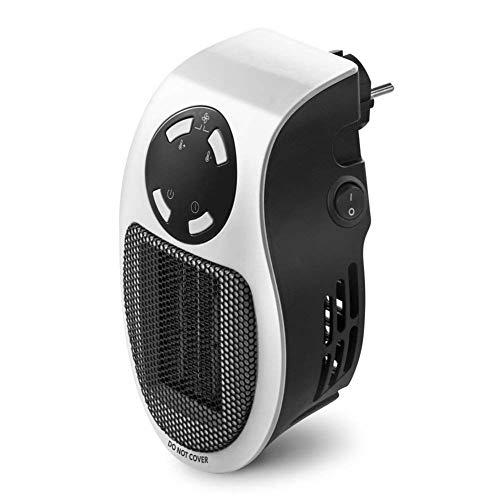AMNFJ Eléctrico Mini Enchufe Calentador 500W, Toma De Corriente Eléctrico Calentar Aire Soplador con Minutero, para Casa...