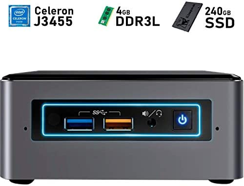 Intel NUC BOXNUC6CAYH Celeron QuadCore + 4GB DDR3L + 240GB SSD + ...