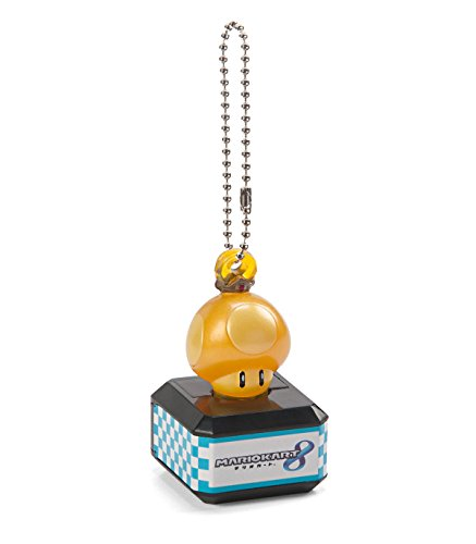 Super Mario Bros. Mario Kart 8 Golden Mushroom Light Up LED Keychain