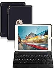 klawiatura do iPada 9,7 do iPada 2018 (6. generacji) iPad 2017 (5. generacji) iPad Pro 9,7 iPad Air 2 i 1 bezprzewodowa klawiatura automatyczna uśpień/wybudzanie etui iPad z klawiaturą (czarna)