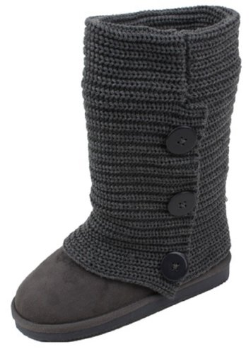 Shoes 18 Womens Rib Knit Sweater Crochet Boots 5 Colors Available Grey Knit