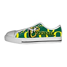 DONGMEN Custom NCAA Oregon Ducks Logo Lady's Low-top Canvas Shoes Nonslip Sneakers