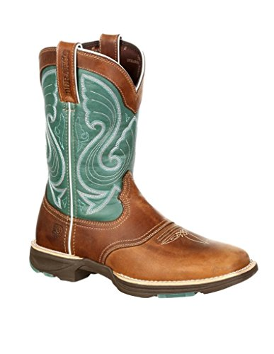 Western DRD0224 Durango Square Womens Ultralite 7 Emerald Tan Boots M wgAAqdZx