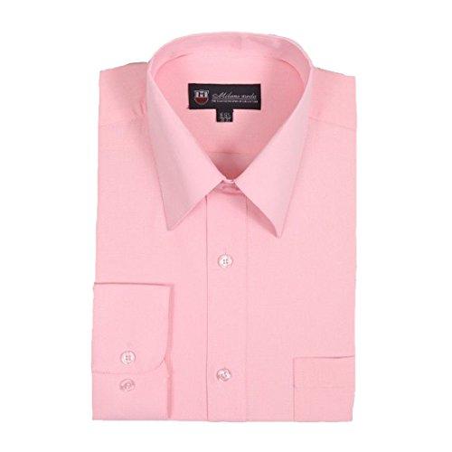 Milano Moda Men's Dress Shirt with Pointed Collar HLSG02 New York -