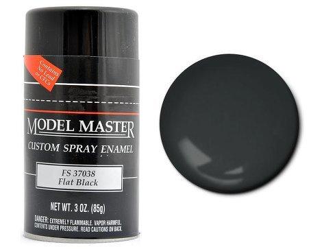 TES1949 Flat Black Testors Model Master Enamel Spray Paint 3