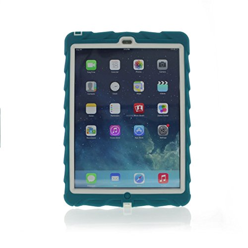 Price comparison product image Gumdrop Cases Droptech for Apple iPad Air Rugged Tablet Case Shock Absorbing Cover Teal/White A1474, A1475, A1476