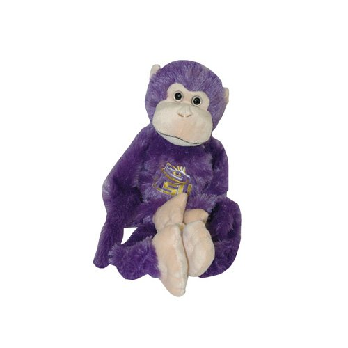 Lsu Plush (Game Day Outfitters NCAA LSU Tigers Plush Monkey with Moveable Legs, One Size, Purple)