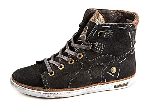 147 FM Para 37 Negro Felmini Samples Negro Mujer Lisa Original Zapatillas Piel de EU tqAZE1f6wx