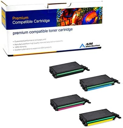 CLT-6092SMP AIM Compatible Replacement for Samsung CLP-770//775ND Toner Cartridge Combo Pack BK//C//M//Y - Generic