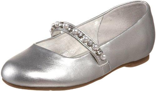 Nina Nataly Ballet Flat ,Silver Soft Nappa,11 M US Little Ki