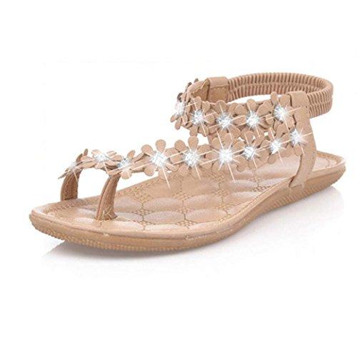 Vendita Calda, Scarpe Da Donna Felp-flop Sandali Piatti (donne: 5.5, Kaki) Kaki