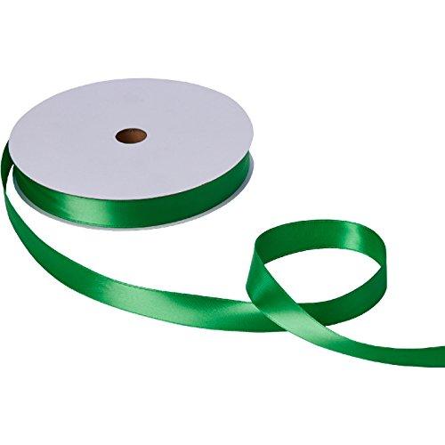 Jillson Roberts Bulk 1-Inch Double Faced Satin Ribbon Available in 20 Colors, Green, 100 Yard Spool (BFR1013) -