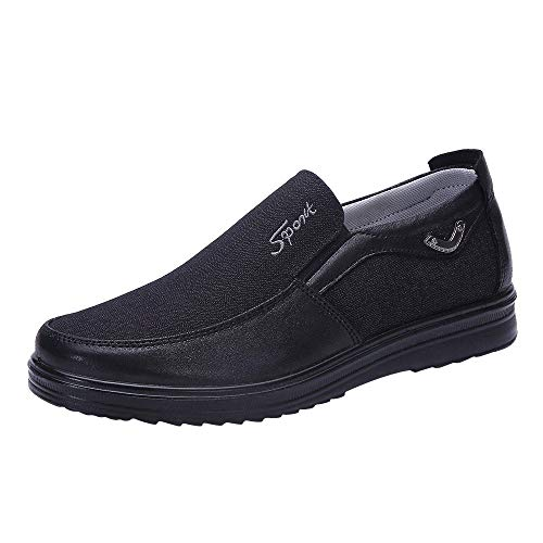 Caopixx Shoes for Men's Loafers Lightweight Driving Shoes Soft Penny Casual Snow Shoes -