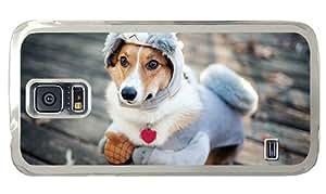 Cheap Samsung S5 custom made case Dog s cute new clothes PC Transparent for Samsung S5,Samsung Galaxy S5,Samsung i9600