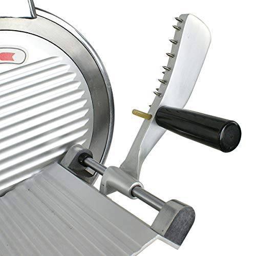 SUPER DEAL Stainless Steel Electric Meat Slicer 10'' inch Blade Home Kitchen Deli Meat Food Vegetable Cheese Cutter Thickness Adjustable Spacious Sliding Carriage, 240W 530 RPM by SUPER DEAL (Image #7)