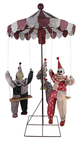 MARIO CHIODO Seasonal Visions Animated Clown Go-Round Prop -