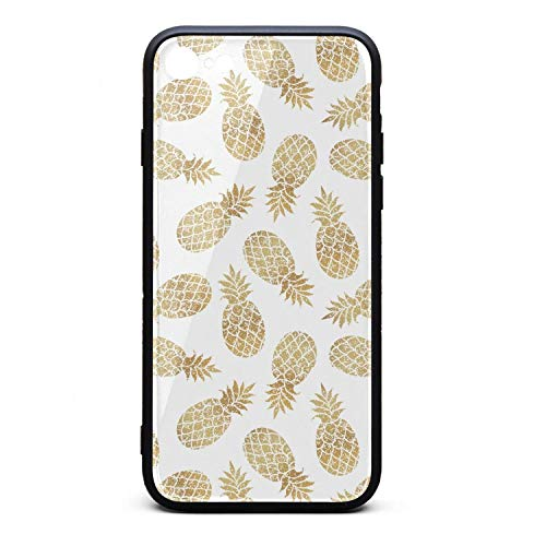 Gold Pineapple Clipart White Background i-Phone 6/6S Case Ultra-Thin Back Case Air Cushion Technology and Clear Hybrid Drop Protection Fashion for i-Phone 6/6S ()