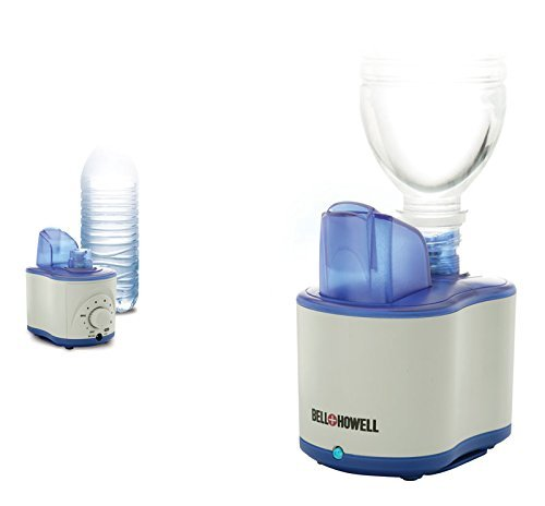 Bell + Howell Sonic Breathe Ultrasonic Personal Humidifier, Lightweight and Portable, Variable Mist Settings (white) (Bell & Howell Sonic Breathe Ultrasonic Personal Humidifier)