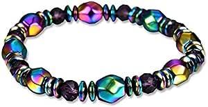 Colorful Black Gallstone Bracelet Magnetic Bracelet Energy Bracelet Jewelry
