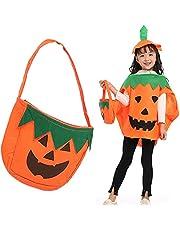 CO BN Halloween pompoenkostuum met pompoenhoed en pompoenzak