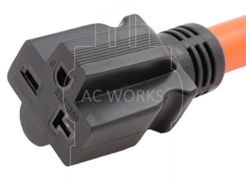 AC WORKS [S1450620-012] 1FT STW 10/3 RV/Range/Generator 14-50P 50Amp Plug to 6-20R 15/20Amp 250Volt Adapter by AC WORKS (Image #3)