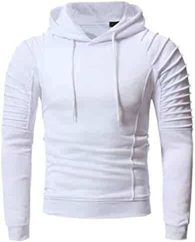 5acfa00a ZXFHZS Men Long Sleeve Casual Pullover Hooded Top Sweatshirt Hoodies