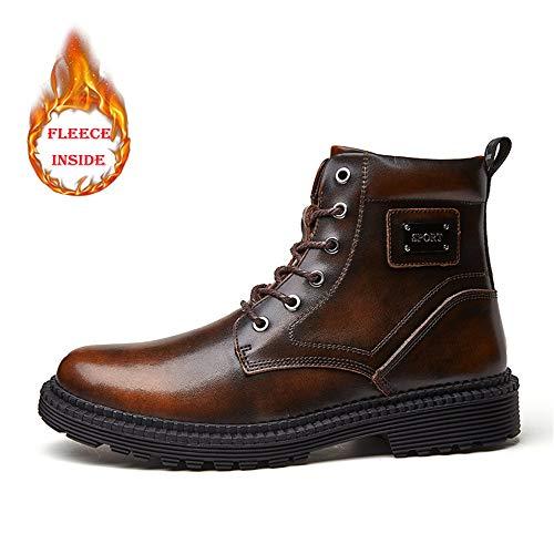 Et Polaire Bout Chaude Ying Hommes Pour En À Chaussures Bottines Rond L'intérieur De Loisirs Confortable Casual Xinguang Brown Warm Des azqzXRw8