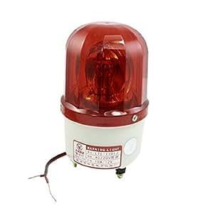 Baomain AC 220V 10W de la Industria enclavamiento contorno lámpara rojo
