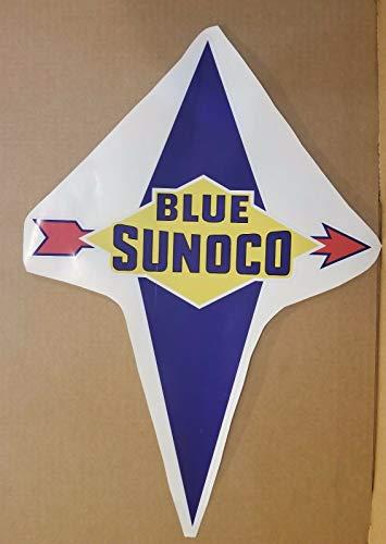 Blue Sunoco Gas Pump Vinyl Decal 21
